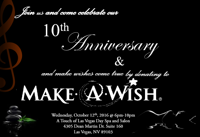 A Touch of Las Vegas Day Spa & Salon - Make A Wish Foundation Event Information